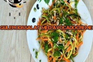 Gulerodssalat skåret i julienne m/avokadocreme