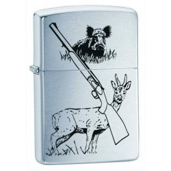 Hunter And Dog Benzin Lighter fra Zippo