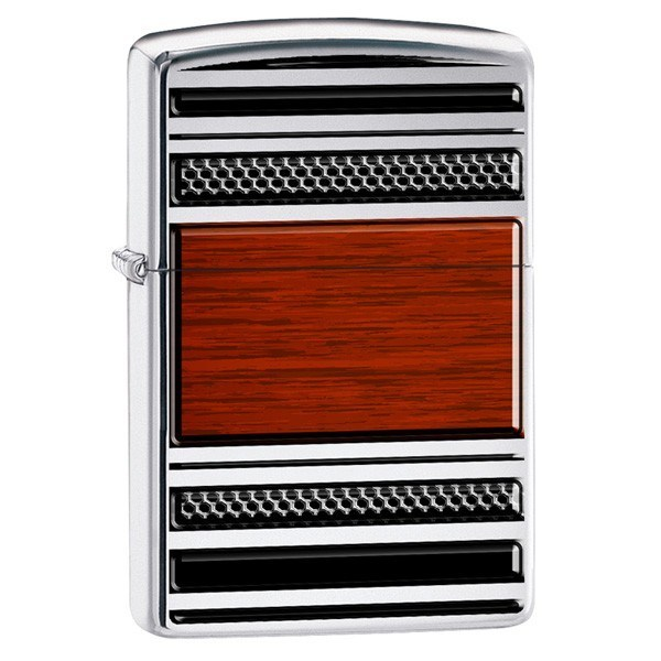 Pibe Lighter 'Steel and Wood' fra Zippo