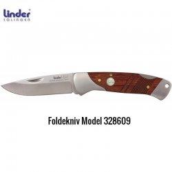 Låsekniv med håndtag af Presswood fra Linder