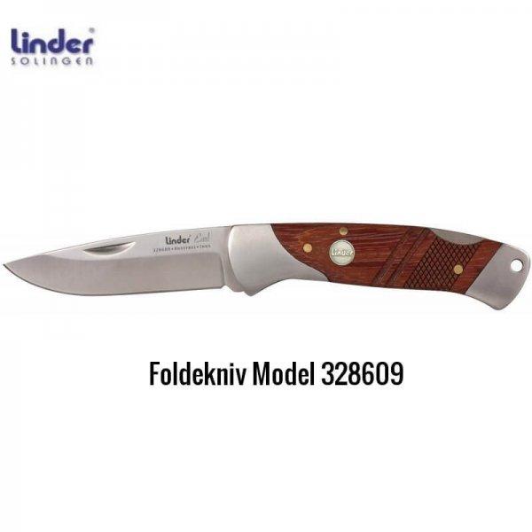 Foldekniv Earl m/håndtag i rosentræ fra Linder