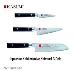 Kasumi Køkkenknive 3-dele