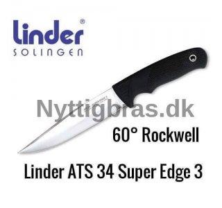 Jagtkniv ATS 34 Super Edge 3 fra Linder