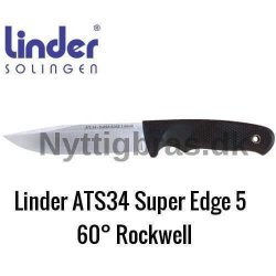 Linder Bushcraft Kniv ATS34 Super Edge 5