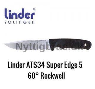 Bushcraft ATS34 Kniv Super Edge 5 fra Linder