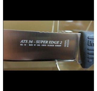 Jagtkniv ATS 34 Super Edge 2 fra Linder