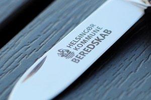 Lommeknive som firmagave med firma logotryk