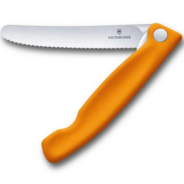 Victorinox Foldbar Skrællekniv, Orange
