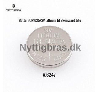 Ekstra Batteri CR1025/3V til Schweizerknive